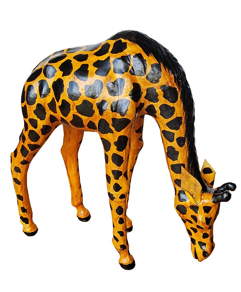 Leather Drinking Giraffe