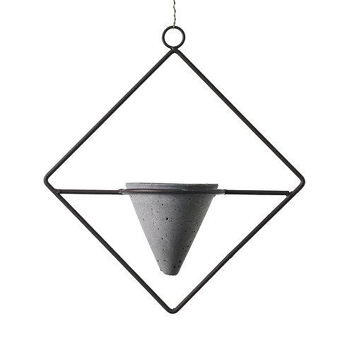Iron & Concrete Hanging Planter