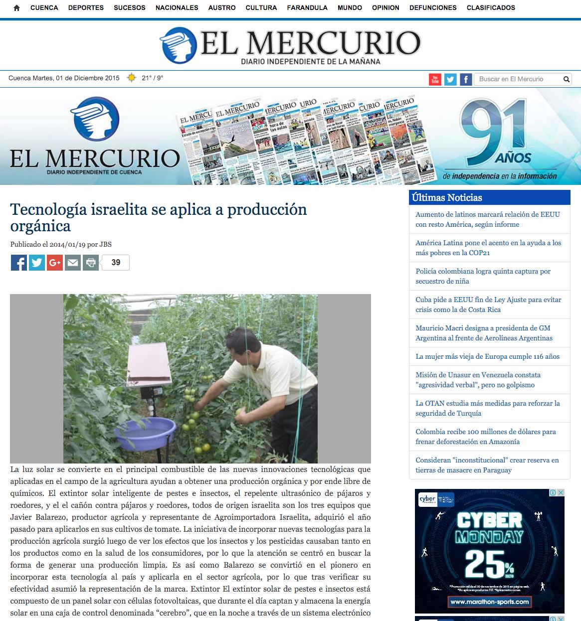 Reportaje El Mercurio