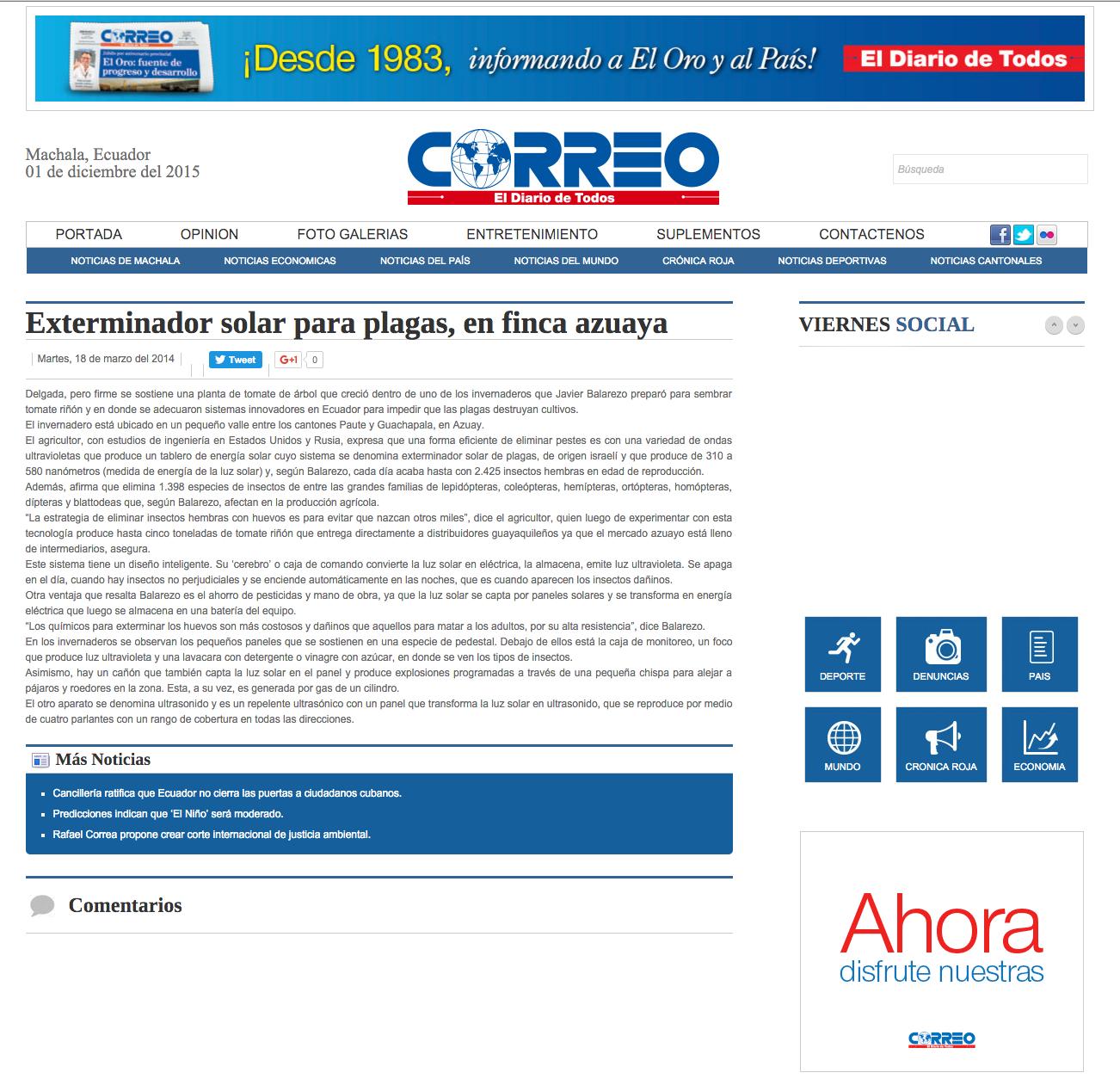 Reportaje Diario Correo
