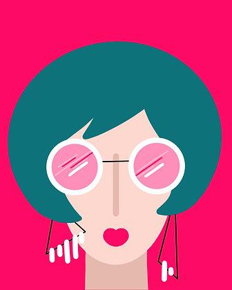 Rose Colored Glasses Print