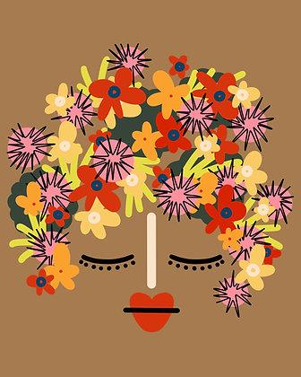 Señorita Flor Print