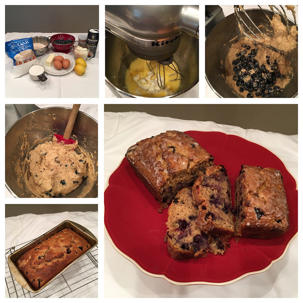 Blueberry Lemon Pound Cake prof magazine