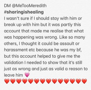 @MeTooMeredith: An Instagram Platform for Survivors of Sexual Violence & Harassment