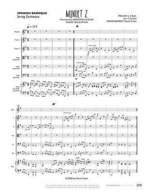 Minuet No. 2 - String Orch