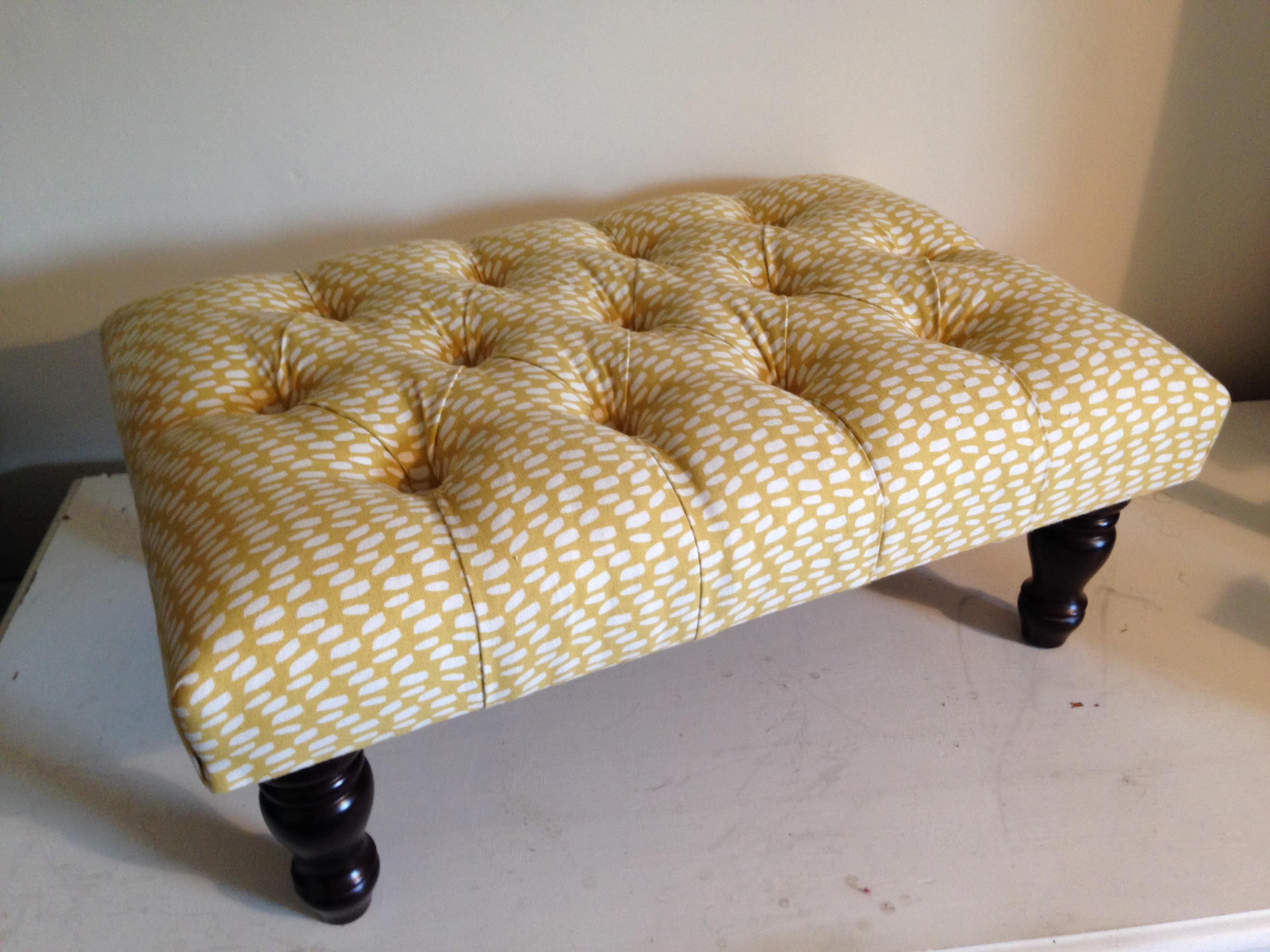 Deep buttoned Footstool