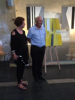 2019  M. Le Maire Christian GILLES de Boulbon et Mme SCHMID