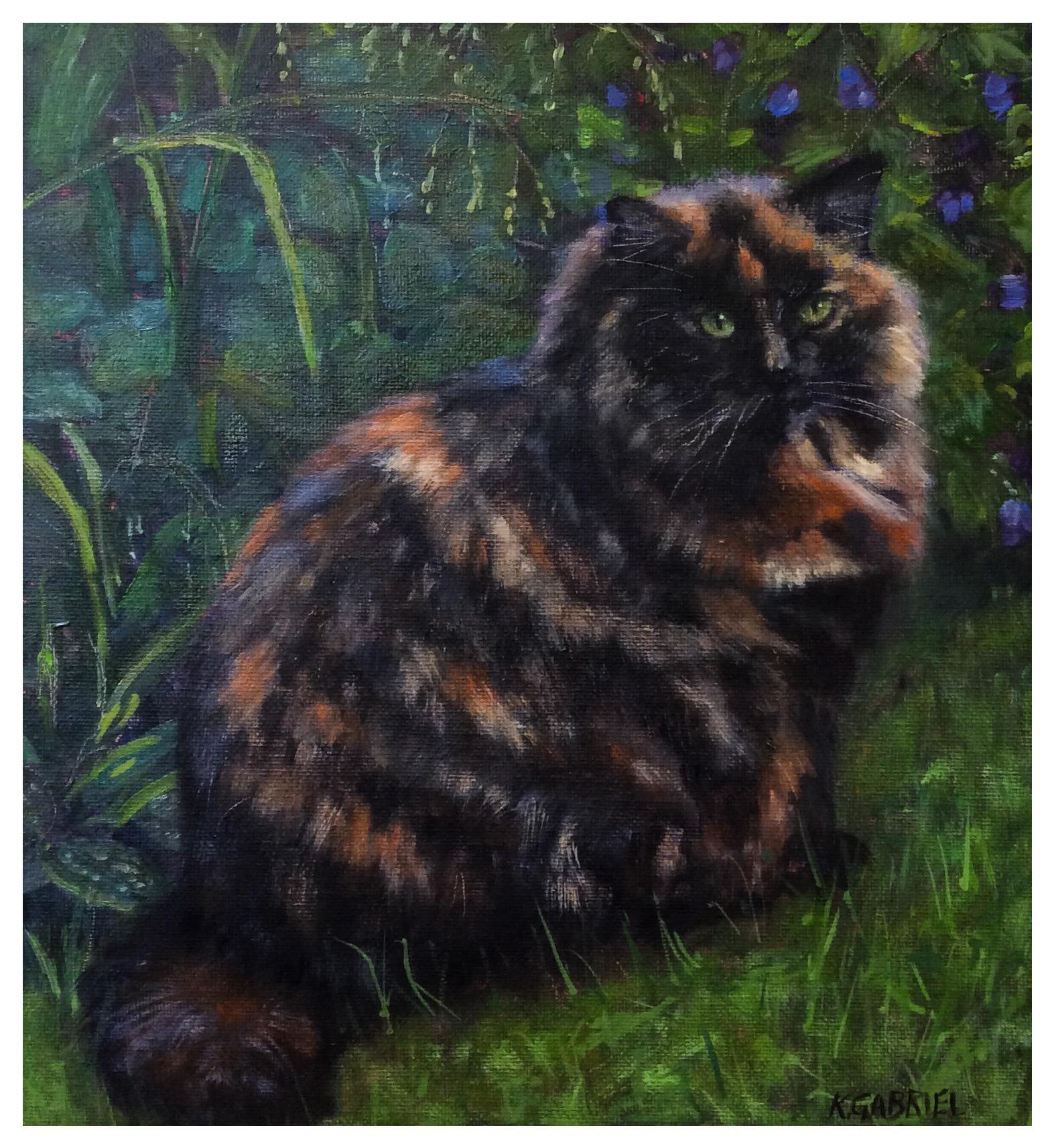 Kate Gabriel cat pet portrait persian tortoiseshell