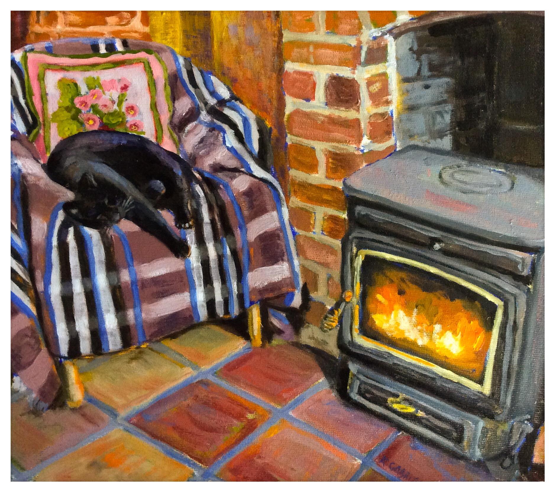 Kate Gabriel cat portrait Fergus