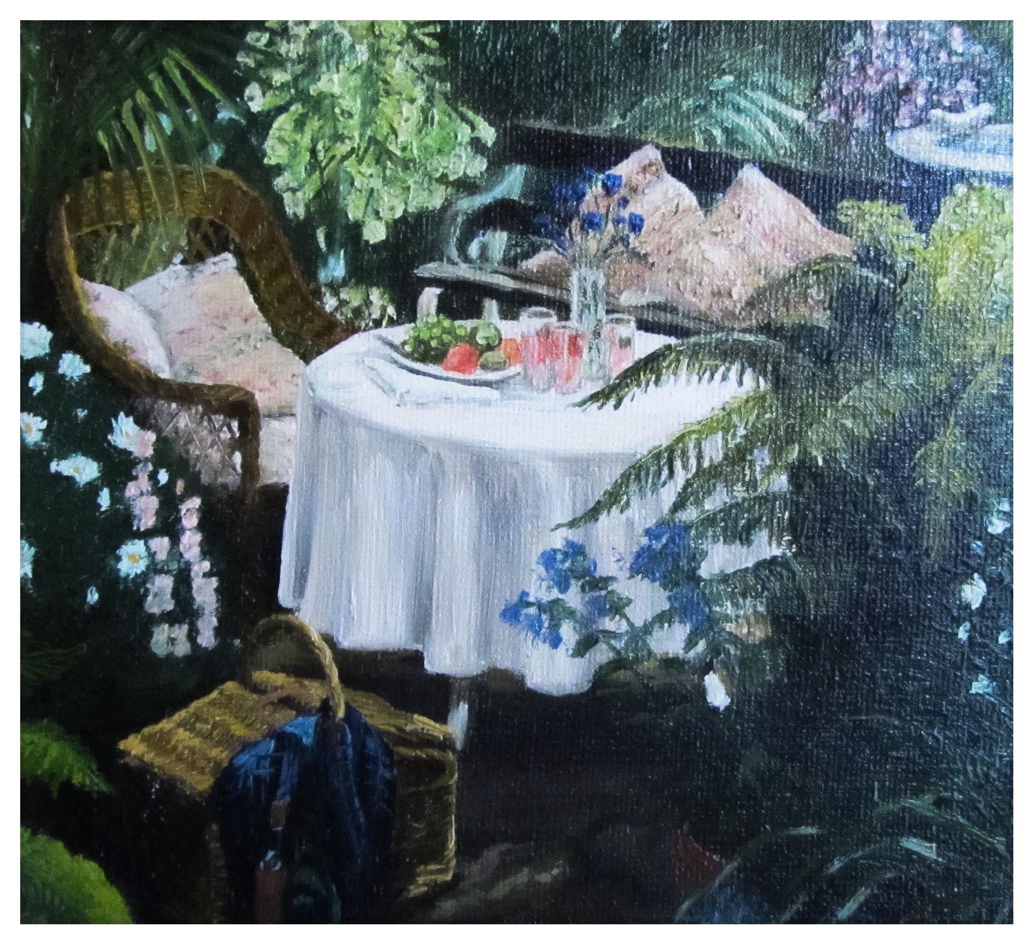 Kate Gabriel secluded garden painting