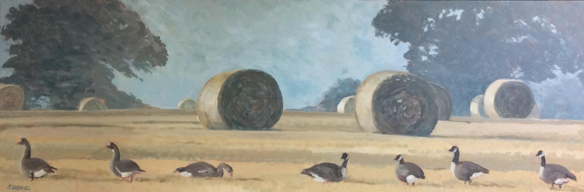 Geese at Harvest Time1