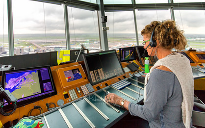 Control tower at work