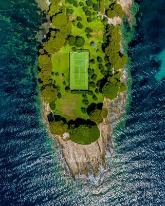 Private Tennis Court, Villefranche-sur-Mer, France