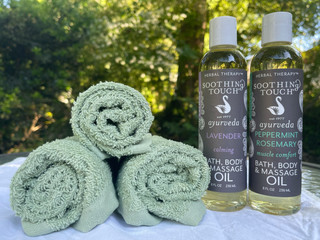 Soothing touch treatment with hot towels