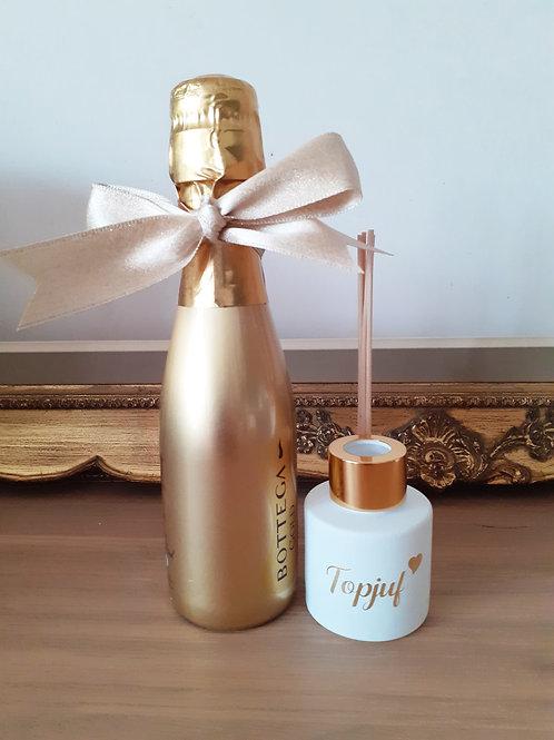 Topjuf huisparfum 50ml met flesje prosecco