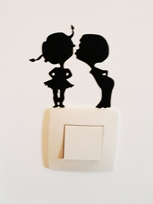 Schakelaar sticker cute kiss