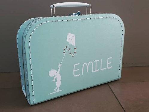 Koffertje met bedrukking naar keuze.