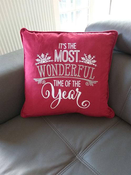 Kerstkussen - Wonderful