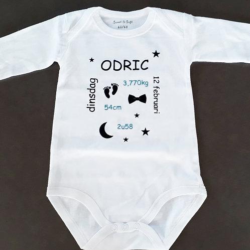 Body met geboorte info