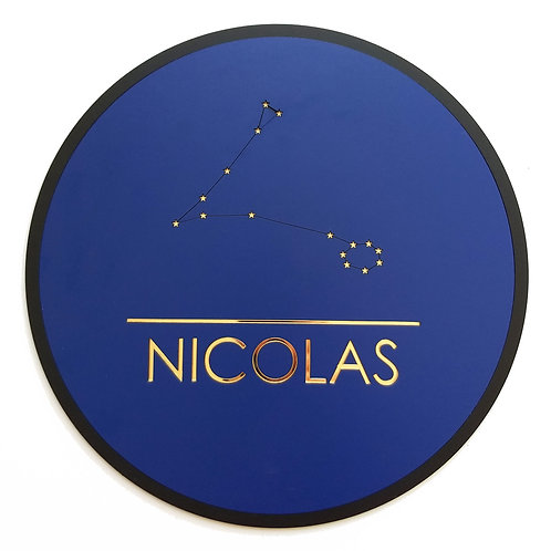 Naambord met sterrenbeeld