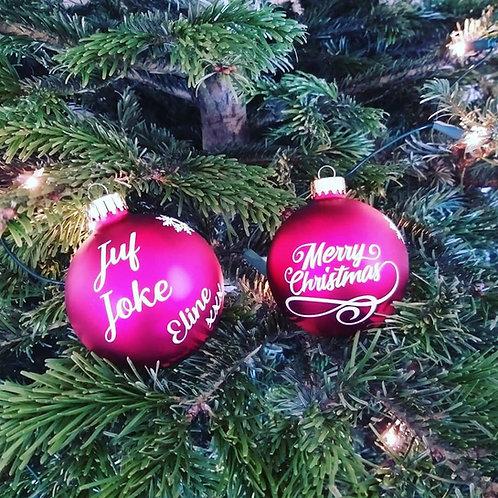 Bedanking juf / meester kerstbal