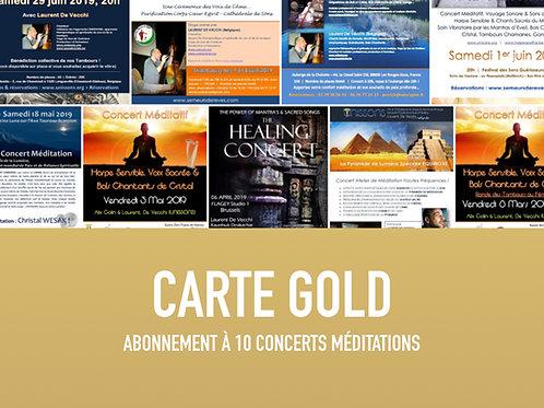 Carte abonnement GOLD - 10 concerts UNISSONS