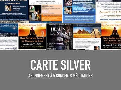 Carte abonnement SILVER - 5 concerts UNISSONS