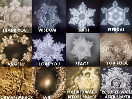 L'effet des intentions humaines sur la formation des cristaux d'eau