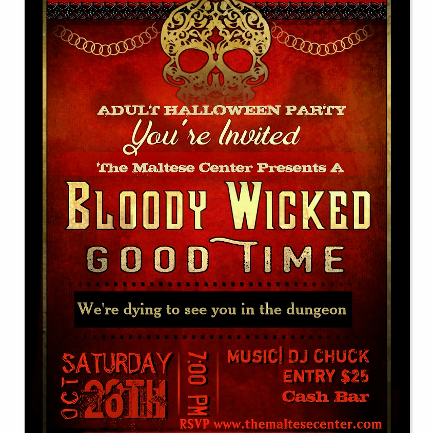 The Annual Maltese Center Adult Halloween Party