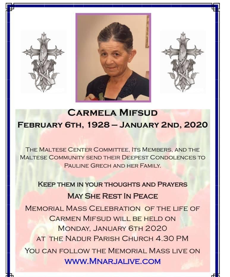 Carmela Mifsud 1/2020