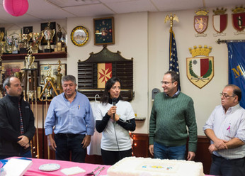 Is- Sahha Taghna thanking the Maltese Center and the Maltese community, friends and family for all their support Photo credit: Nicky Conti