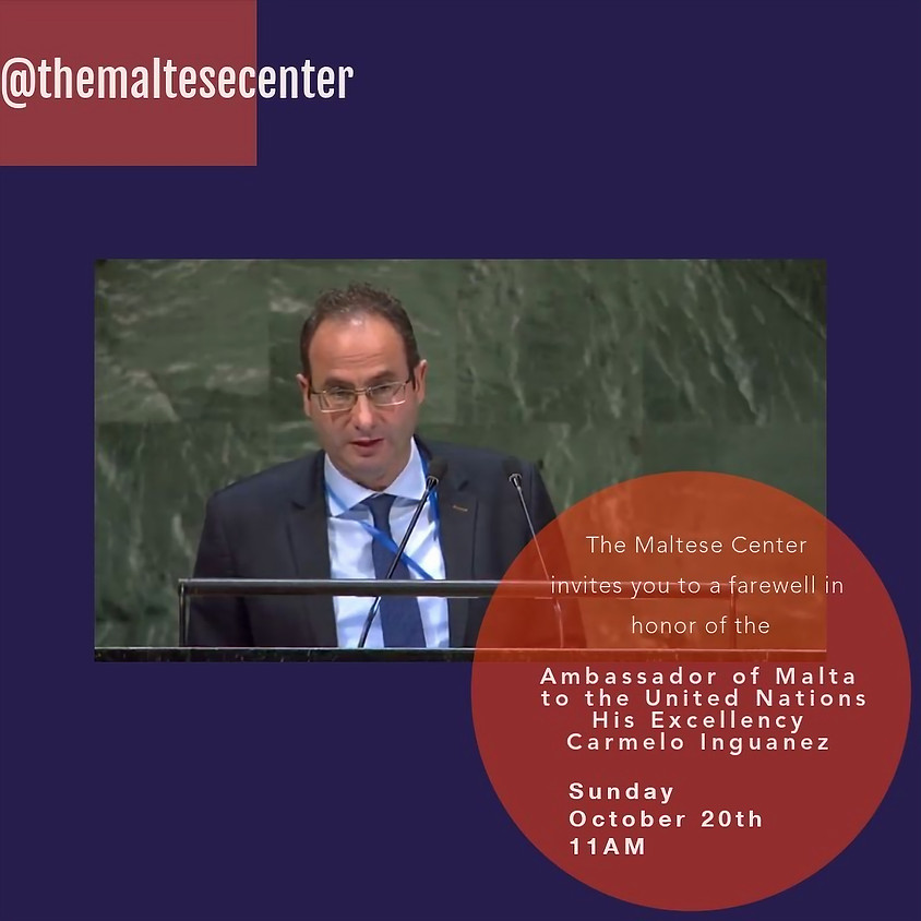 Visit by the Ambassador of Malta to the United Nations His Excellency Carmelo Inguanez