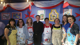 Volunteers with Fr. Saliba at Lejla Maltija 2018