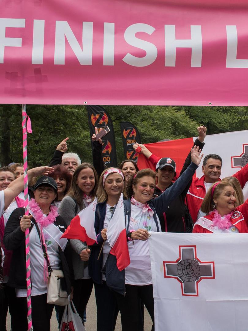Is-Sahha Team Breast Cancer Walk Central Park,NYC