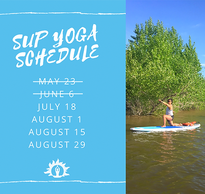 Sup Yoga schedule
