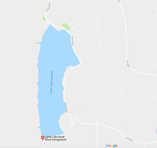 Carter Lake map