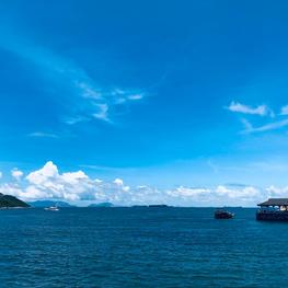 Calming blue