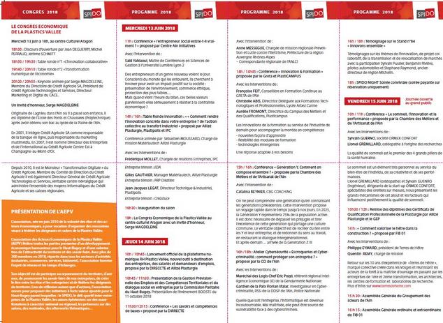 Salon SPIDO : programme et plan