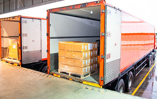 Cargo freight truck. Shipment, Delivery