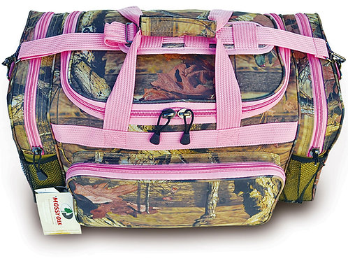 Mossy Oak w/ Pink Trim Large Duffle Bag