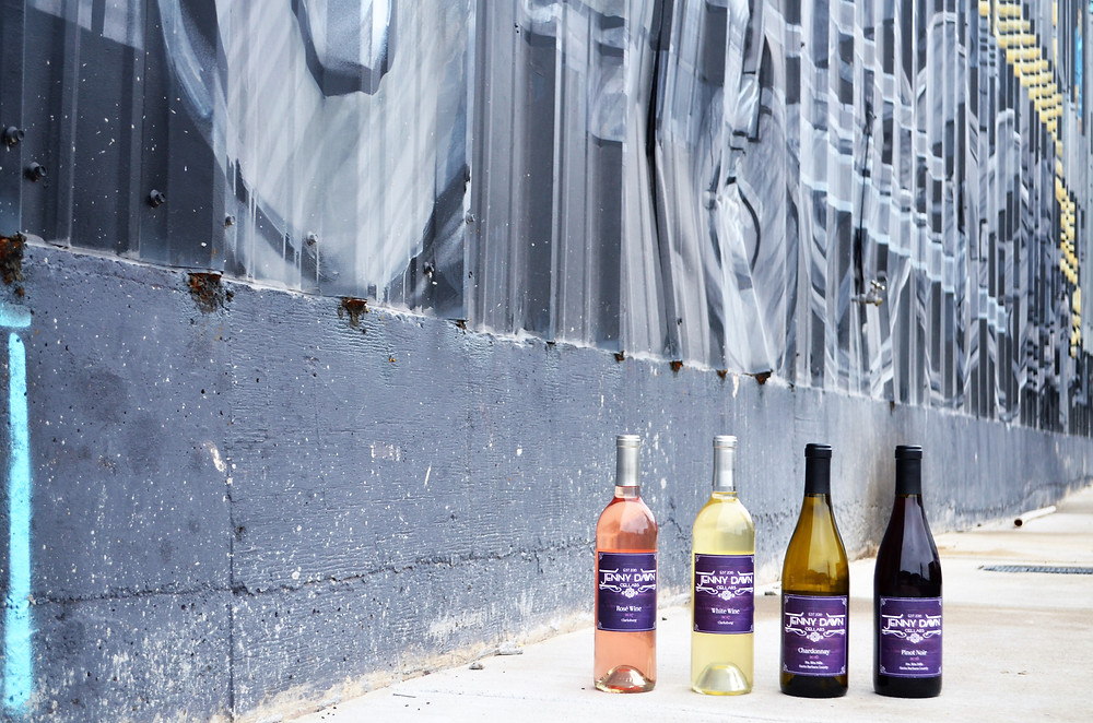 The full line of Jenny Dawn Cellars wines