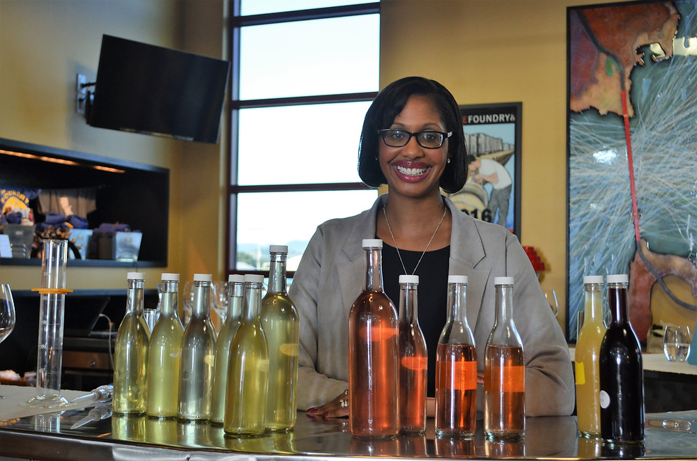 Jennifer enjoyed being involved in the wine mixing process for our new Rose and White Wines.