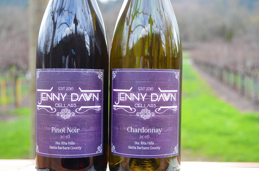 Jenny Dawn Cellars Pinot Noir and Chardonnay