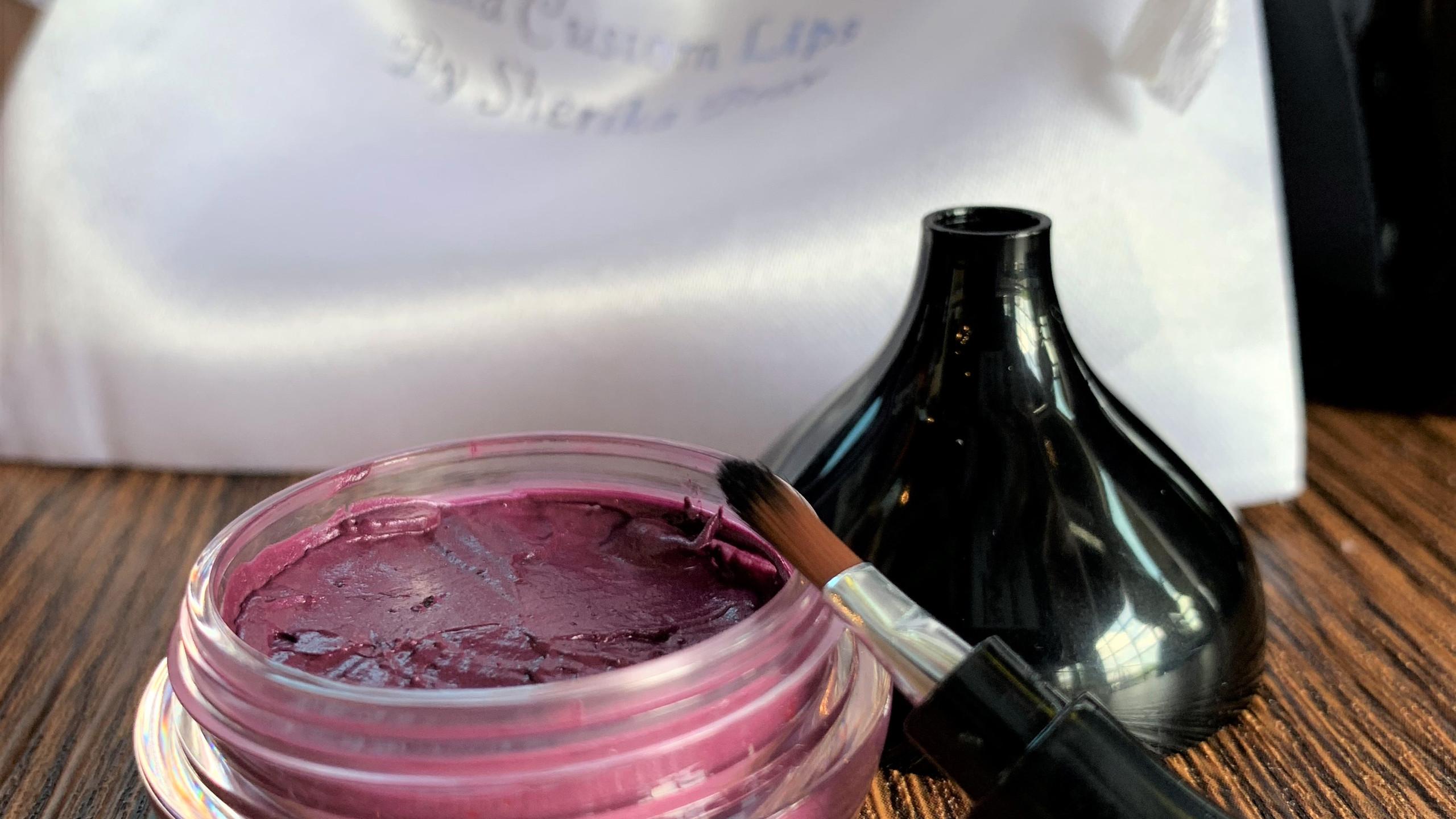 Custom Purple Lipstick