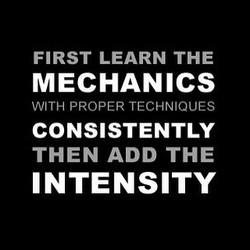 Mechanics, Consistency, Intensity