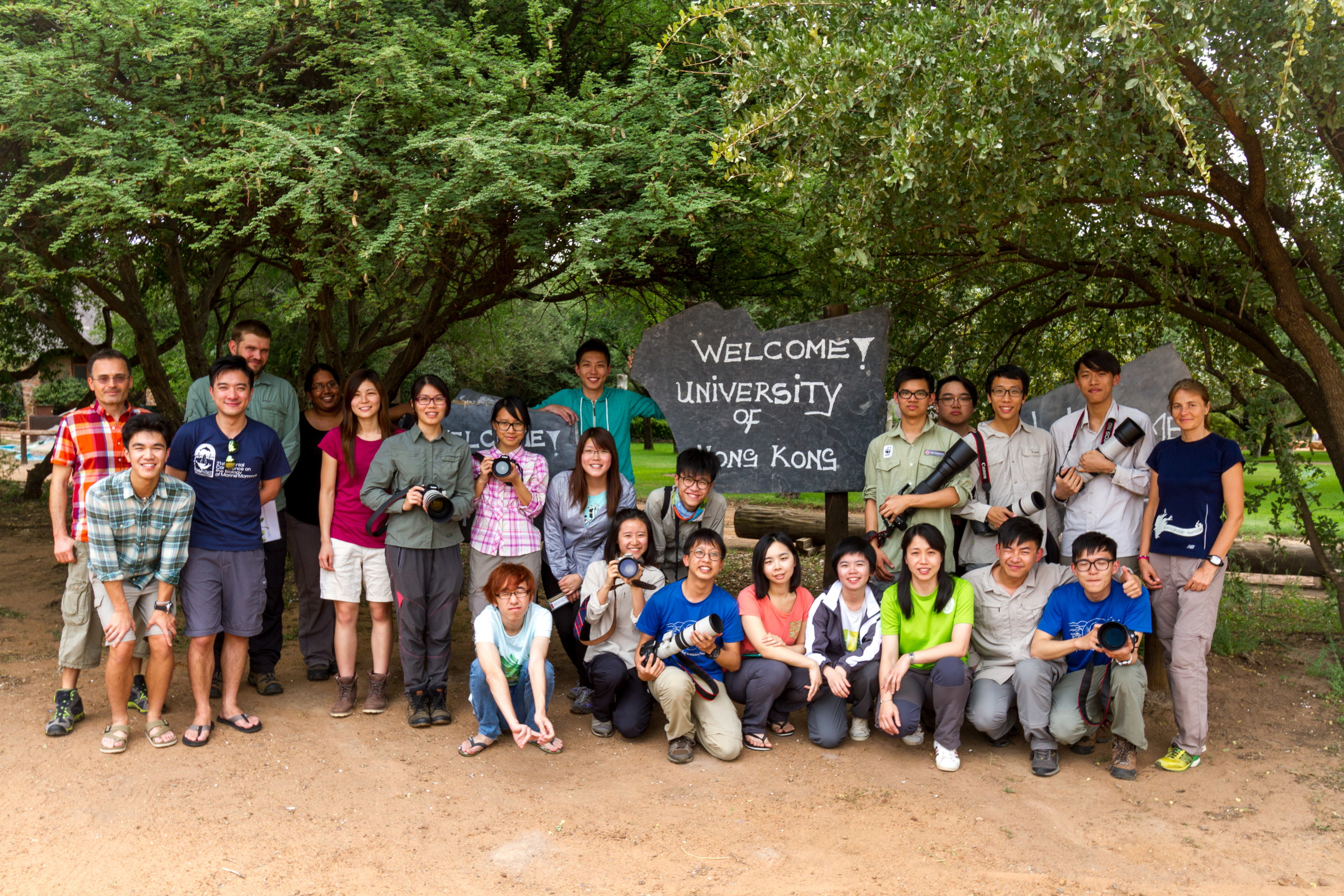 Group photo at Dinokeng Game Reserve