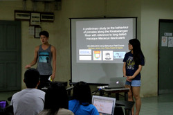 Student group project presentation
