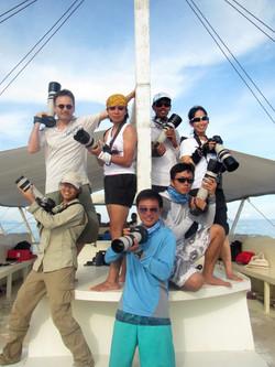 Heavily armed photo team