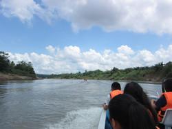 Boat ride on Kota Kinabatangan (Photo by Carmen Or)