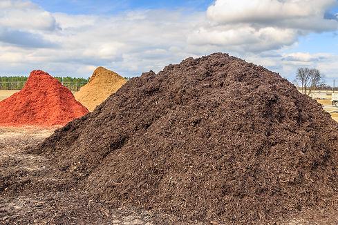 Black Mulch or Wood Chip Mound_ Mound of